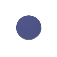 "Anodized Aluminum 1/2"" Circle, Royal Blue, 24g"