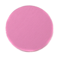 "Anodized Aluminum 1"" Circle, Pink, 24g"