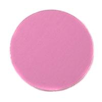 "Anodized Aluminum 1"" Circle, Pink, 24g"