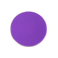 "Anodized Aluminum 3/4"" Circle, Purple, 24g"