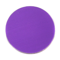 "Anodized Aluminum 1"" Circle, Purple, 24g"