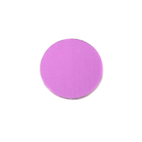 "Anodized Aluminum 1/2"" Circle, Light Magenta, 24g"