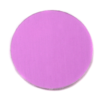"Anodized Aluminum 1"" Circle, Light Magenta, 24g"