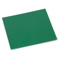 "Anodized Aluminum Sheet, 3"" X 3"", 24g, Kelly Green"