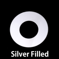 "Silver Filled 1"" Washer, 1/2"" ID, 24g"