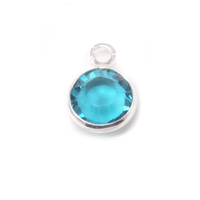 Swarovski Crystal Channel Charm (Blue Zircon - DECEMBER)