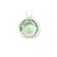 Swarovski Crystal Channel Charm (Peridot - AUGUST)