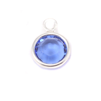 Swarovski Crystal Channel Charm (Sapphire - SEPTEMBER)