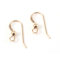 Gold Filled Flat Earwires, 3mm Ball