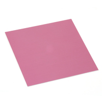 "Anodized Aluminum Sheet, 3"" X 3"", 24g, Pink"