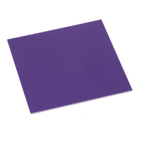 "Anodized Aluminum Sheet, 3"" X 3"", 24g, Purple"
