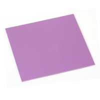 "Anodized Aluminum Sheet, 3"" X 3"", 24g, Light Magenta"