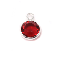 Swarovski Crystal Channel Charm (Ruby/Garnet - JAN or JULY)