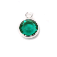 Swarovski Crystal Channel Charm (Emerald - MAY)