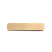 Brass Large Long Rounded Rectangle, 24g