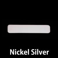 Nickel Silver Large Long Rounded Rectangle, 24g