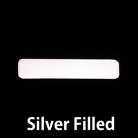 Silver Filled Large Long Rounded Rectangle, 24g