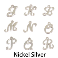 Nickel Script Letter Charm J, 24g