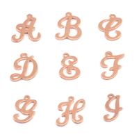 Copper Script Letter Charm A, 24g