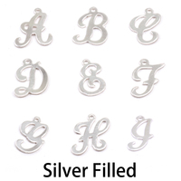 Silver Filled Script Letter Charm A, 24g