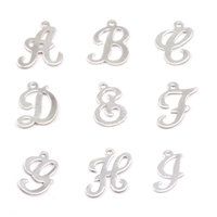 Sterling Silver Script Letter Charm A, 24g
