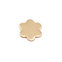Brass Mini Flower with 6 petals Solderable Accent, 24g