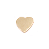 Brass Mini Chubby Heart Solderable Accent, 24g