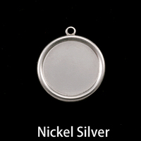 "Nickel Silver 5/8"" (16mm) Pressed Circle with Raised Edge"