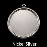 "Nickel Silver 1 1/8"" (29mm) Pressed Circle with Raised Edge"