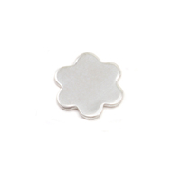 Sterling Silver Mini Flower w/ 6 Petals Solderable Accent , 24g