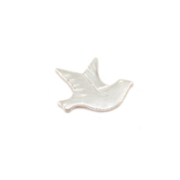 Sterling Silver Dove Right Facing Solderable Accent, 24g