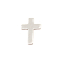 Sterling Silver Mini Cross Solderable Accent, 24g