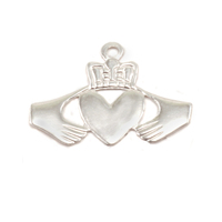 Sterling Silver Claddagh Solderable Accent, 28g