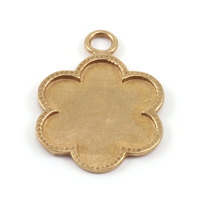 Brass Flower with Dotted Edge