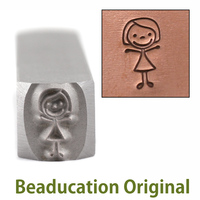 Mom Stick Figure Design Stamp- Beaducation Original