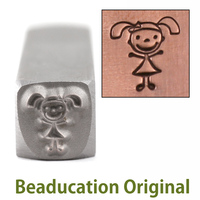 Daughter Stick Figure Design Stamp- Beaducation Original