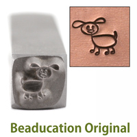 Dog Stick Figure Design Stamp- Beaducation Original
