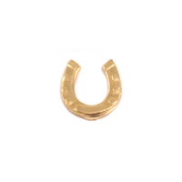 Brass Horseshoe Solderable Accent, 24g