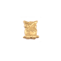 Brass Owl Solderable Accent, 24g