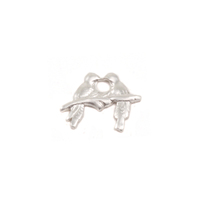Sterling Silver Love Birds Solderable Accent, 24g