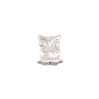 Sterling Silver Owl Solderable Accent, 24g
