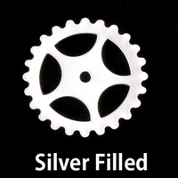 Silver Filled Large Spoked Cog, 24g