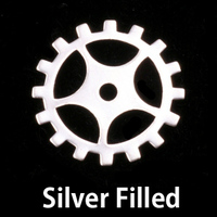 Silver Filled Medium Spoked Cog, 24g