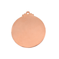 Copper Victorian Large Circle Blank, 24g