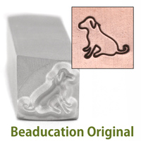 Miles the Dog Design Stamp- Beaducation Original