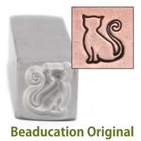 Sadie the Cat Design Stamp- Beaducation Original