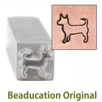 Pancho the Dog Design Stamp- Beaducation Original