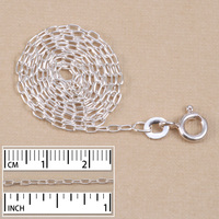 """Silver Filled Finished Drawn Cable Chain, 18"""""""