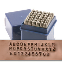 "Economy Block Uppercase Letter & Number Stamp Set 3/32"" (2.4mm)"
