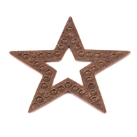 Antique Brass Beaded Star